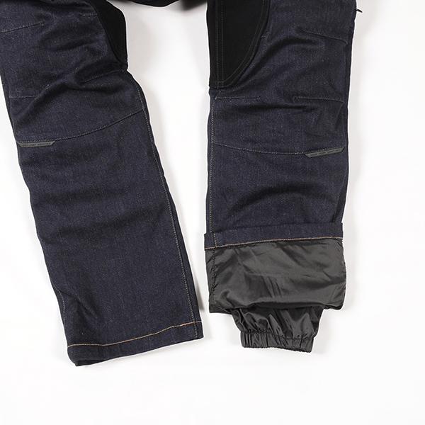 """""""裾内に冷風の侵入を防ぐストームガードを装備。裾のずり上がり防止にもなります"""""""